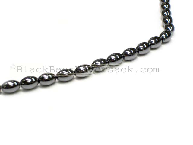 Rice Hematite Beads