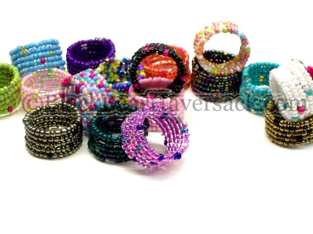 Seed Bead Memory Wire Rings